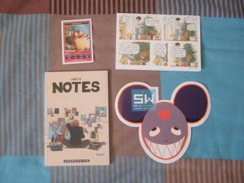 Des goodies, avec un carnet de notes Boulet dont je suis déjà fan!