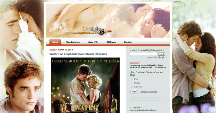 [Partenaire] Twilight belgium - Site