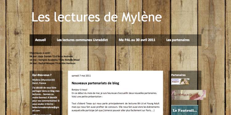 [Partenaire] Les lectures de Mylène - Site
