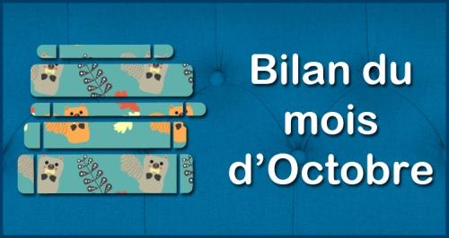[Blog] Bilan du mois - Octobre
