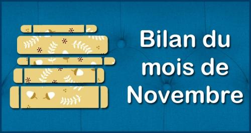 [Blog] Bilan du mois - Novembre